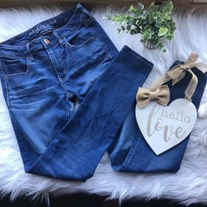 American Eagle Mid Rise Dark Jegging Jeans 6